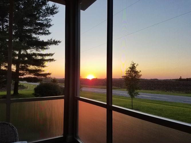 Sunset from a Screen Room