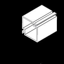 2x2 Aluminum Screen Corner Post
